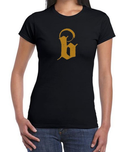 "Black Lava ""Golden B"" Ladies T-Shirt T-Shirt"