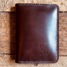 "Load image into Gallery viewer, Hand Stitched Calf Leather  ""Cordovan"" Wallet"