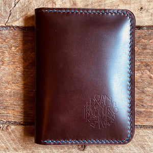 "Hand Stitched Calf Leather  ""Cordovan"" Wallet"