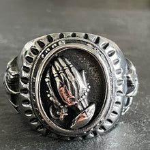 Load image into Gallery viewer, Praying Hands Biker Ring