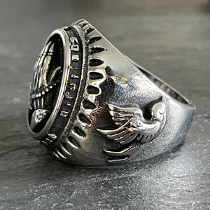 Praying Hands Biker Ring