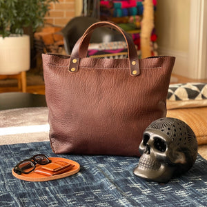 The Handmade Deluxe Bison Leather Tote