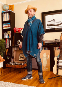 Denim Poncho by UBI Denim