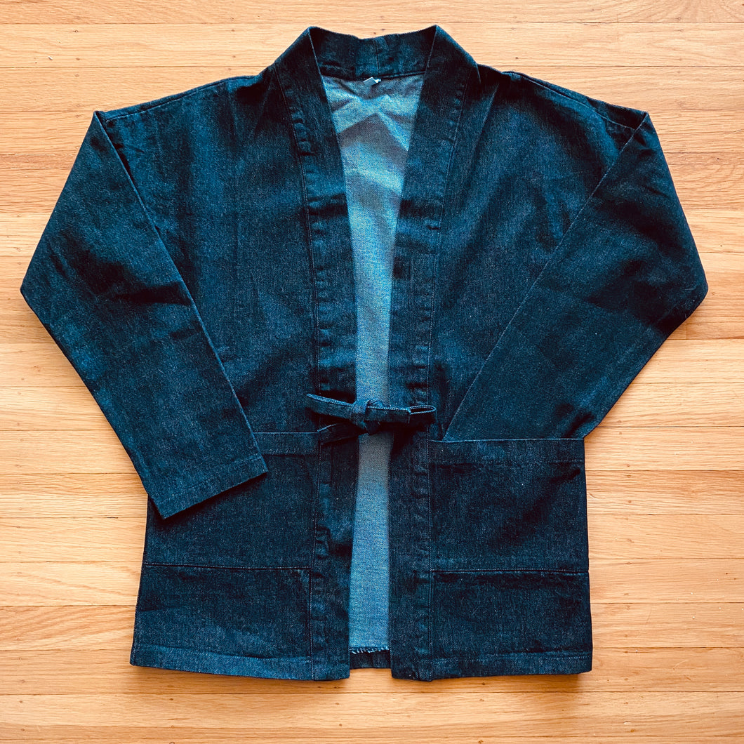 Long Sleeve Denim Hanten Coat