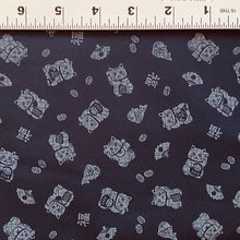Load image into Gallery viewer, Indigo Lucky Cats Fabric