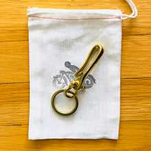 Load image into Gallery viewer, Solid Brass Fish Hook Key Chain