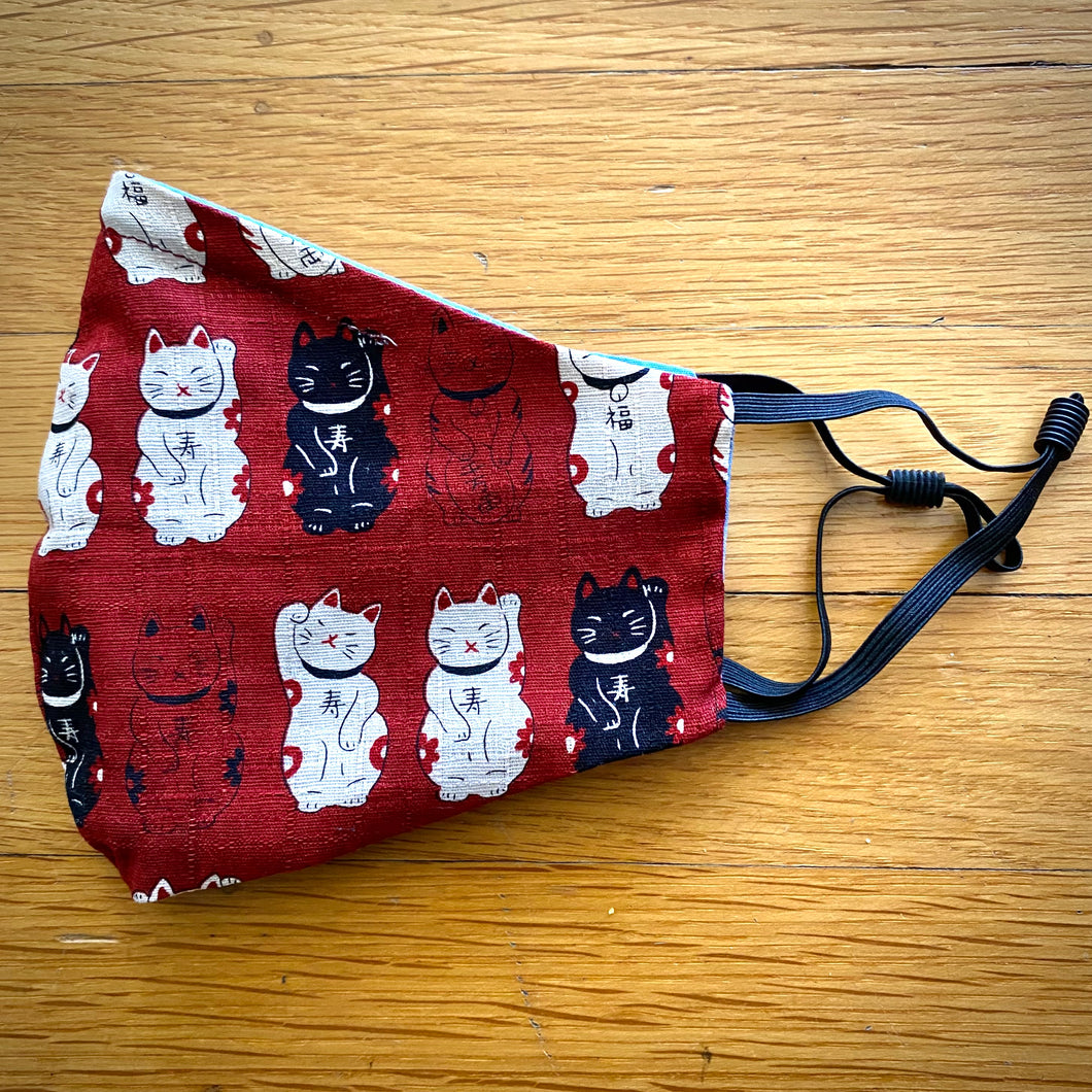 Red Lucky Cats Mask