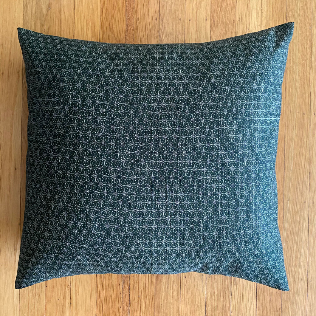 Golden Green Asanoha Cushion Cover