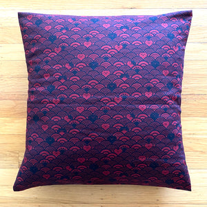 Black & Red Cat Wave Cushion Cover