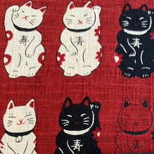 Load image into Gallery viewer, Red Lucky Cats Cushion Cover