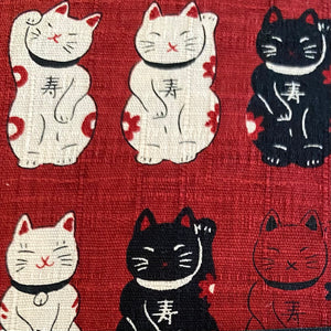 Red Lucky Cats Cushion Cover