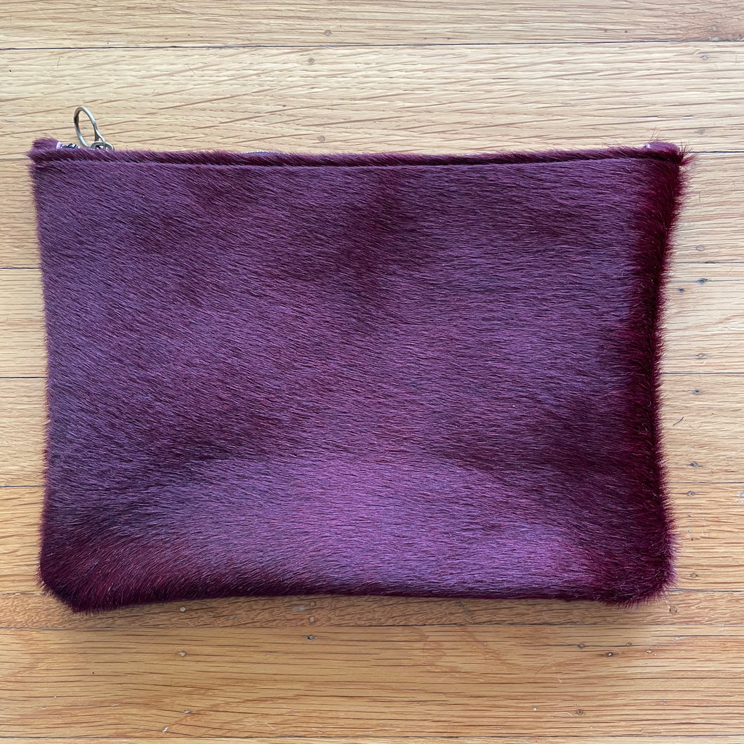 Red Pony Hair Clutch