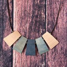 Load image into Gallery viewer, Geometric Indigo Dyed Wooden Necklaces