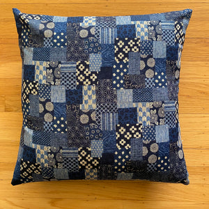 Boro Patchwork Print Cushion Cover