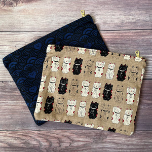 Japanese Textile Zippered Pouches