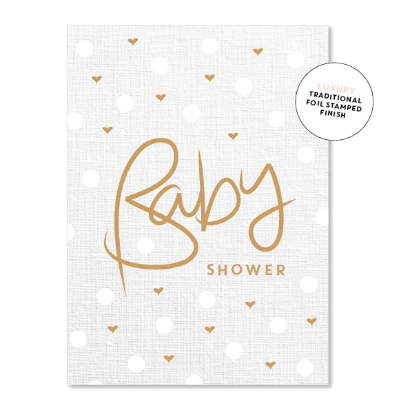 Baby shower linen polkadot