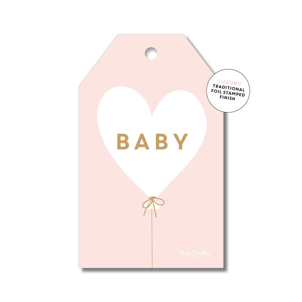 Baby heart balloon pink