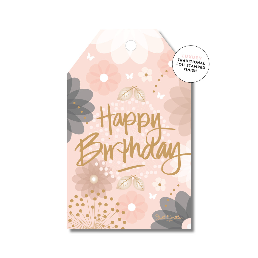 Floral Peachy Birthday