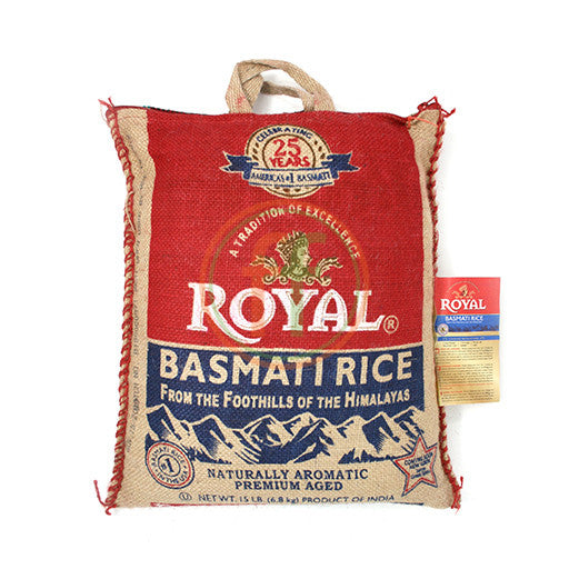 Royal Basmati Rice 15LB