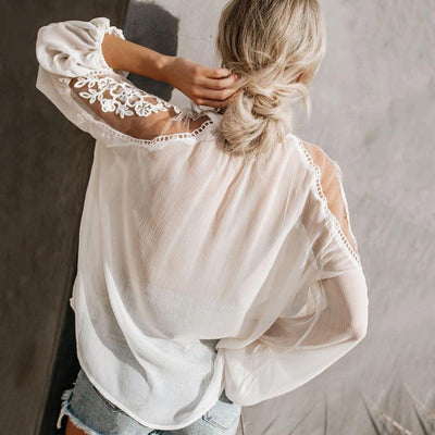 Sofia Embroidery Lace Shirt - Good Mood | Fashion Online For Women