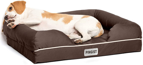 PINGIST Ultimate Dog Bed Orthopedic Memory Foam Medium Firmness Pillow Waterproof Liner Breathable Bed Cover