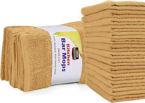 FUNACA Kitchen Bar Mops Towels Pack of 12 Towels-16x19 Inches, 100% Cotton for Home and Kitchen Bars
