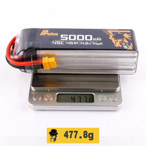 Auline 5000mah 4S 45C XT60 for 7inch FPV Long Range and Wing & Heli