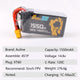 Auline EX 1550mAh 14.8v 4S 120C XT60 High Discharge Current and Long Continue with 5inch FPV