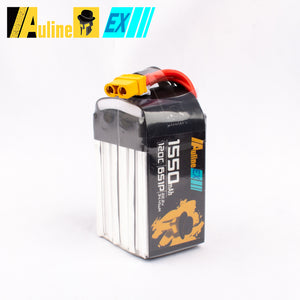 Auline EX 1550mah 6S 22.2V 120C XT60 for 5inch FPV Racing & Freestyle