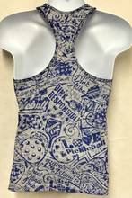 Load image into Gallery viewer, Heather with Blue Stain Racerback