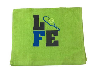 """LIFE ""Little Paddle  and Ball"" Sports Towel"