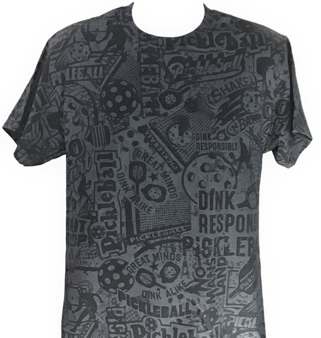 Men's- Black Shirt  with BLACK stain