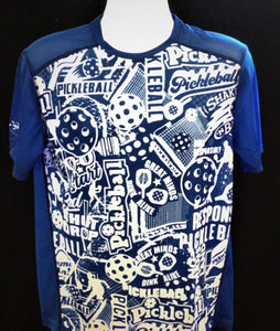 "Elite Performance by ""Headsweats"" Men's "" Royal Blue Front Print "" Short Sleeve"