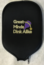 "Load image into Gallery viewer, Pickleball Paddle Cover ""Life"" Grey Cover"
