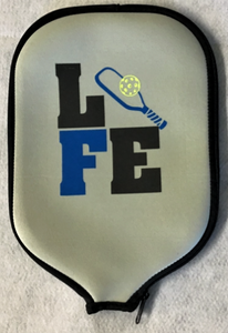 "Pickleball Paddle Cover ""Life"" Lime Green Cover"