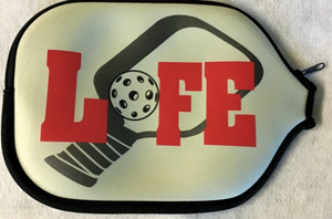"Pickleball Paddle Cover ""Life"" Grey Cover"