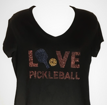 "Load image into Gallery viewer, ""L V E PICKLEBALL"" Single Paddle  Design"