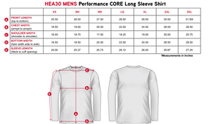 "Elite Performance by ""Headsweats"" Men's "" Grey & White with Front & Back Print"" Long Sleeves"