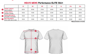 "Elite Performance by ""Headsweats"" Men's ""White Front & Black Back with Printed "" Short Sleeve"