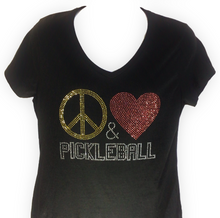 "Load image into Gallery viewer, ""Peace  Love  &  Pickleball""  Design"