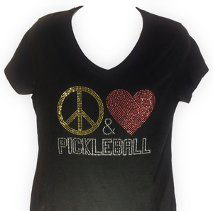 """Peace  Love  &  Pickleball""  Design"