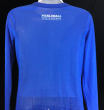 "Load image into Gallery viewer, Elite Performance by ""Headsweats""   Women's ""Royal Blue Front Print"" Long Sleeve"