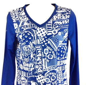 "Elite Performance by ""Headsweats""   Women's ""Royal Blue Front Print"" Long Sleeve"