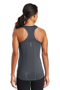 OGIO® ENDURANCE Ladies Racerback Pulse Tank - Gear Grey with Crystal Rhinestones