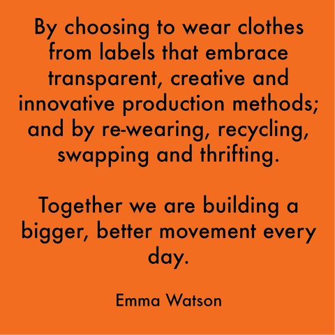 Emma Watson sustainable clothing quote