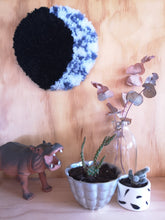 Load image into Gallery viewer, Waxing and Waning Moons - tufted wall hangings