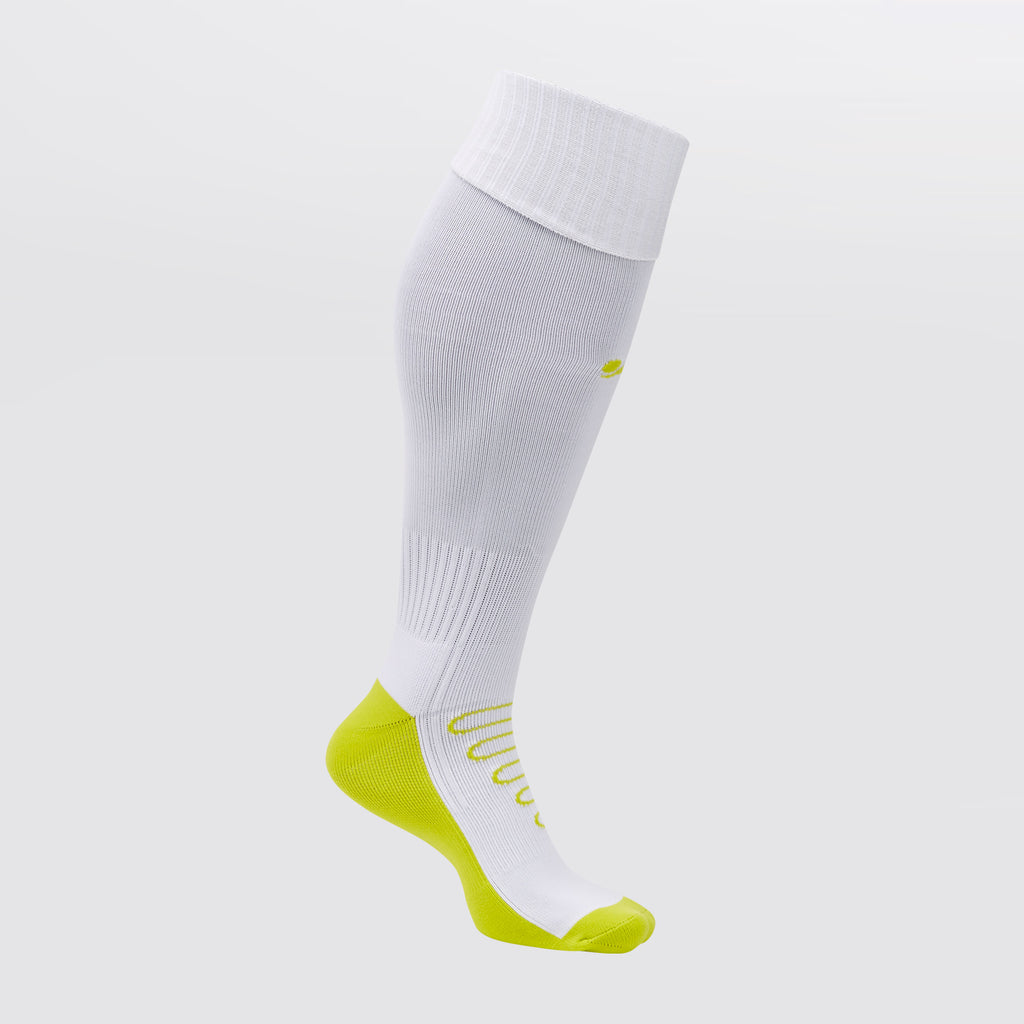 Concave Football Socks - White/Lime