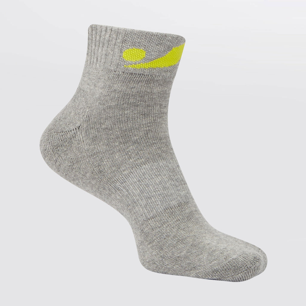 Concave Jogger Sock - Grey/Lime