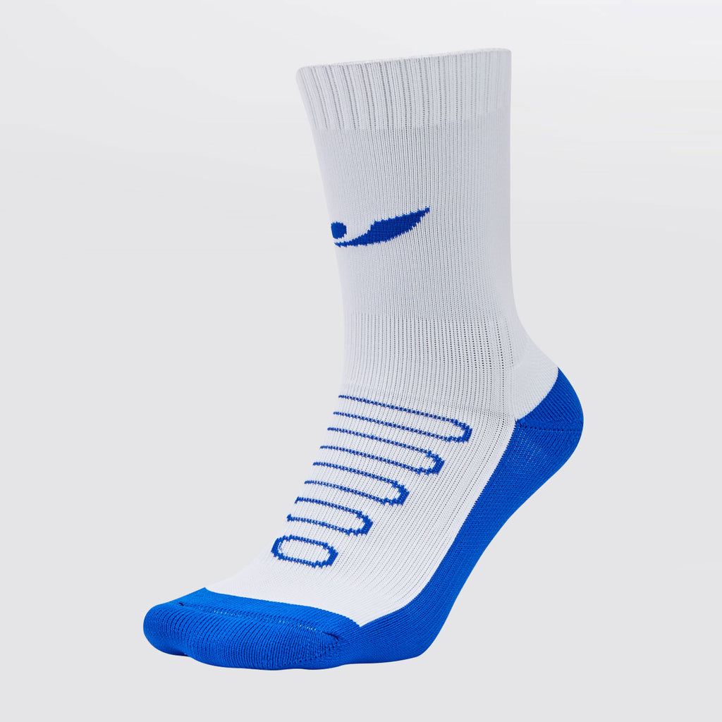 Concave Performance Mid Socks - White/Blue