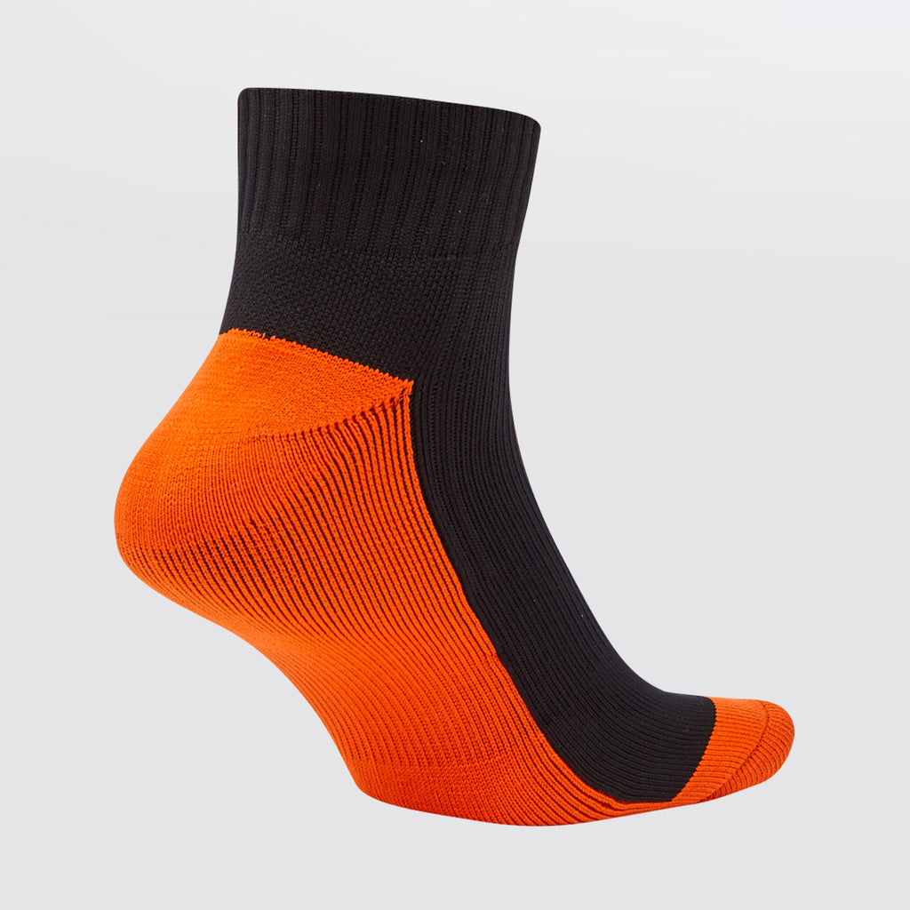 Concave Low Socks - Black/Fl Orange
